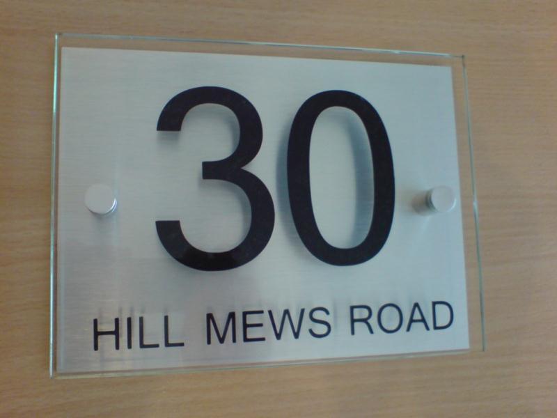 Modern House Sign Number Address Plaque