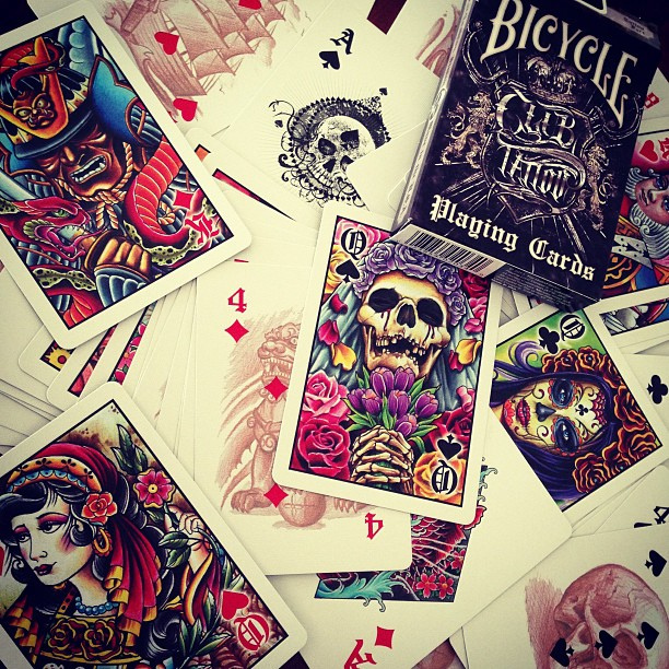 Bicycle Club Tattoo Deck Playing Cards Bicycle Playing Cards Club