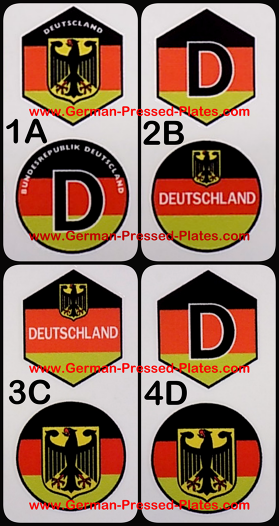 irish and german pressed number plates made in dublin ireland. Black Bedroom Furniture Sets. Home Design Ideas