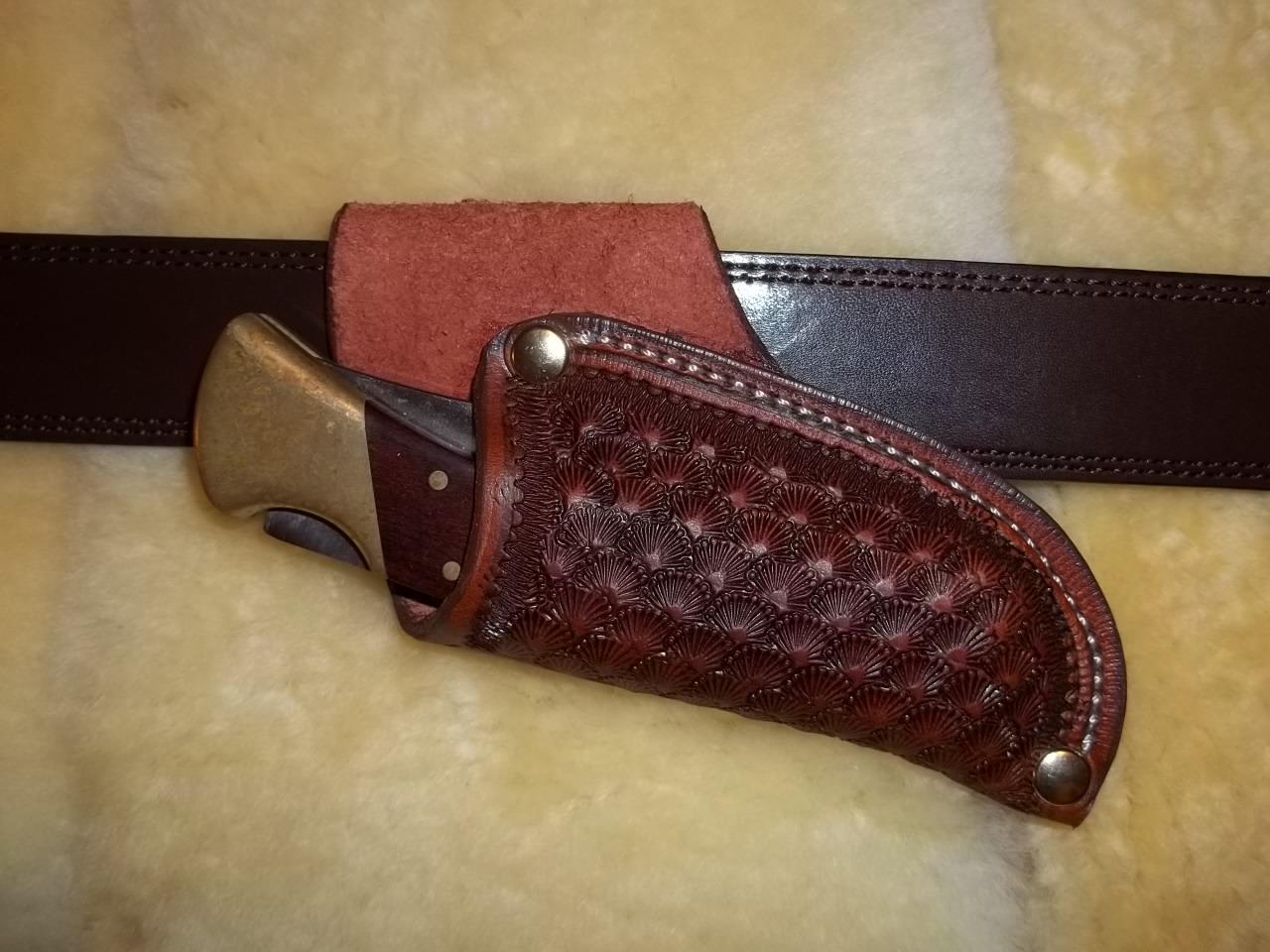 how to make a custom sheath for a knife