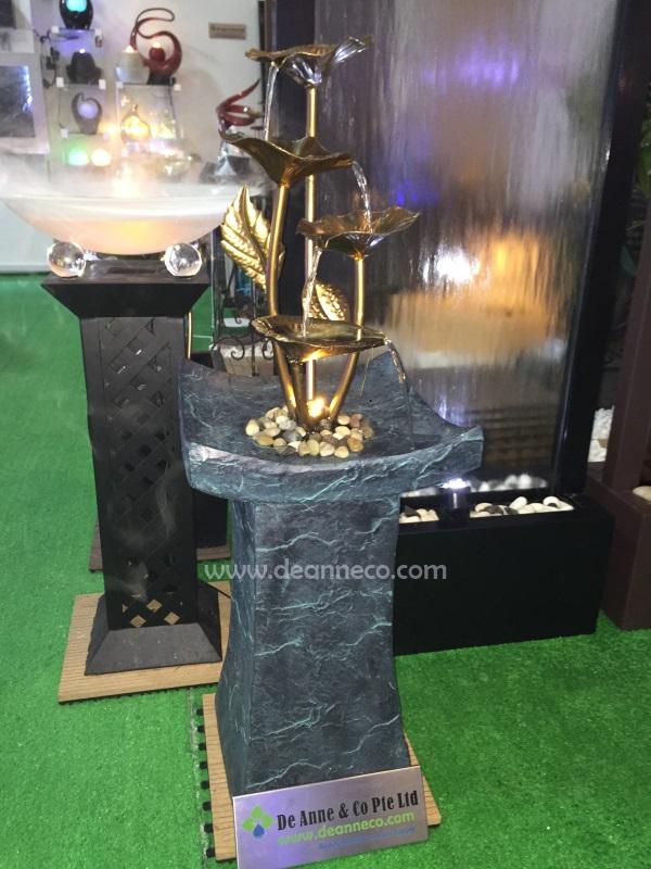 Artful Tiers Galvanized Metal Floor Fountain