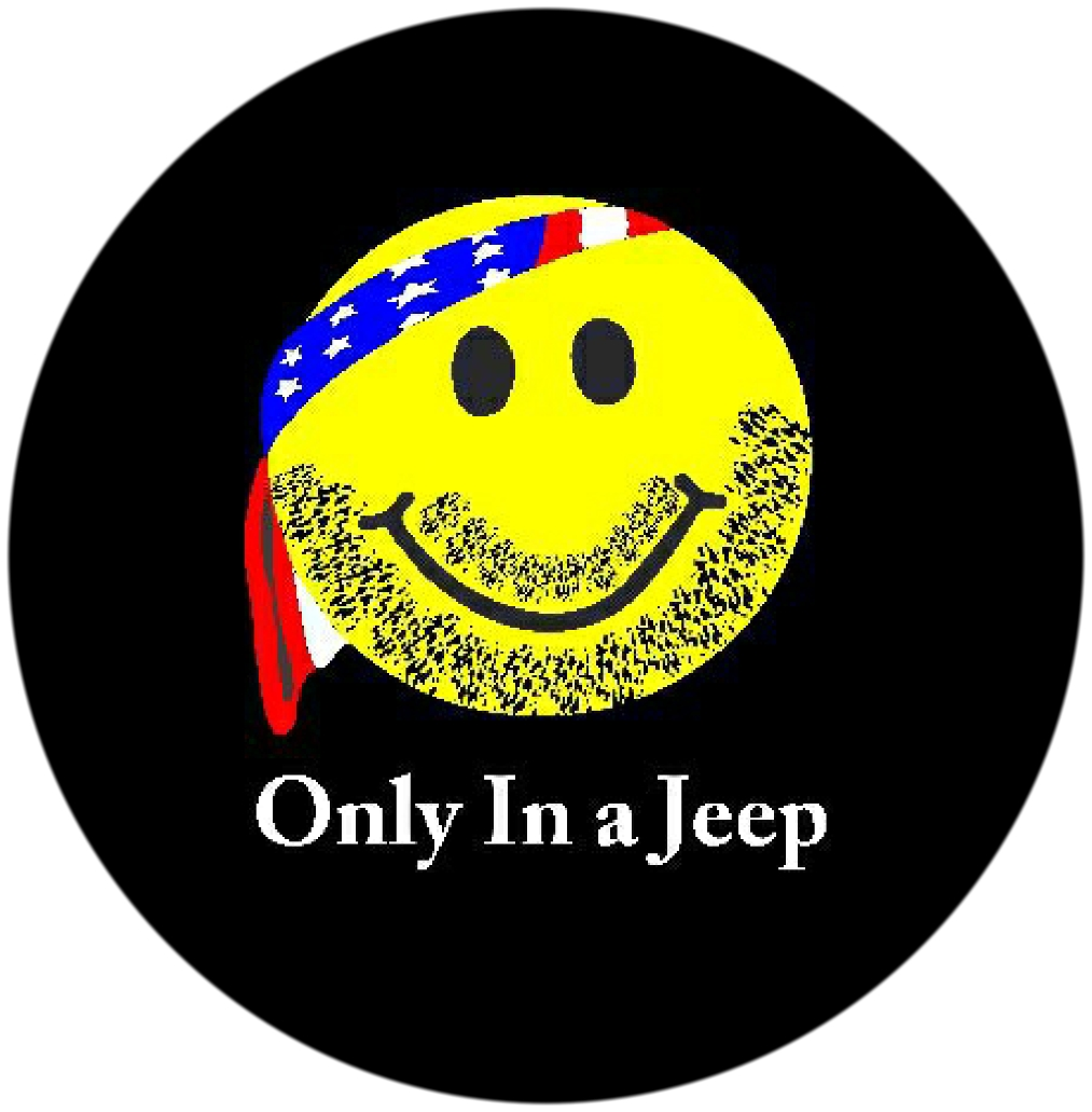 Only In A Jeep Smiley Tire Cover