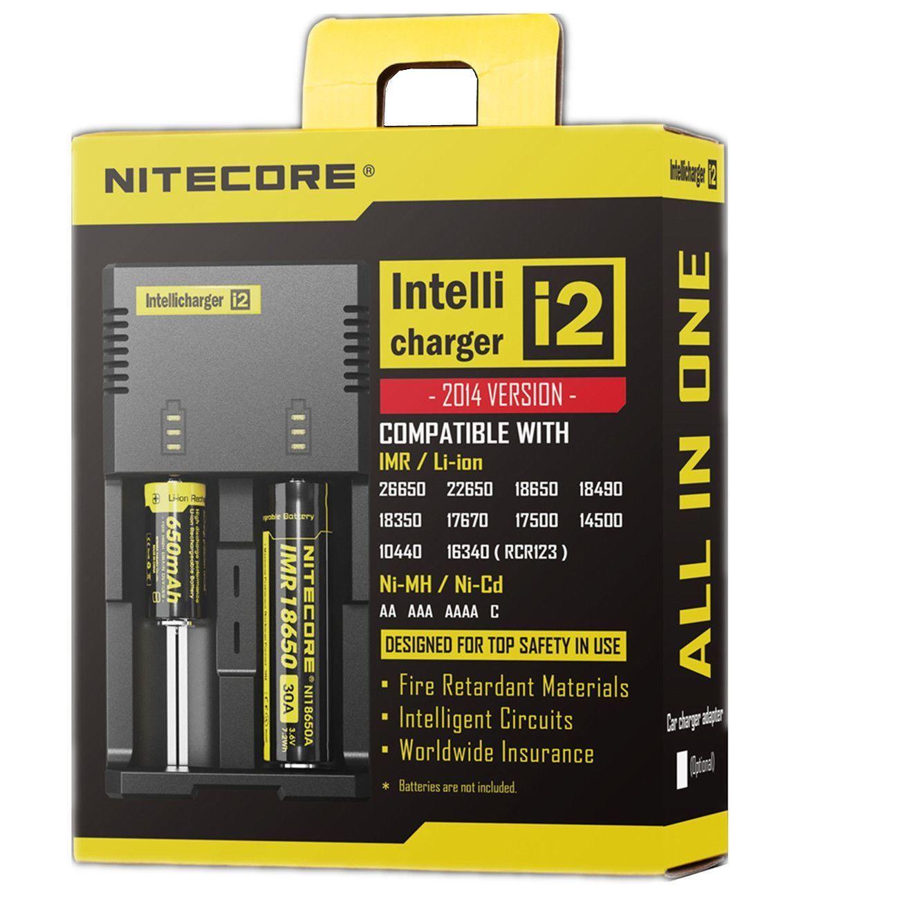 Nitecore I2 Intelli Charger 18350 26650 Imr Universal