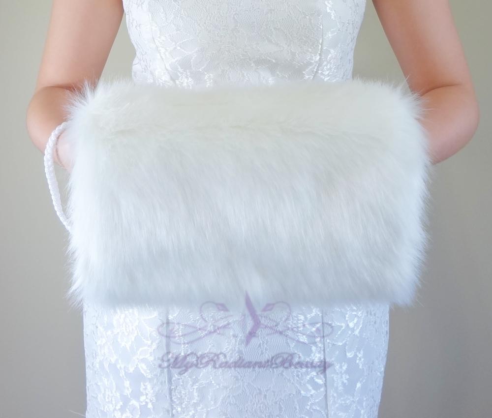 Fur muff for wedding