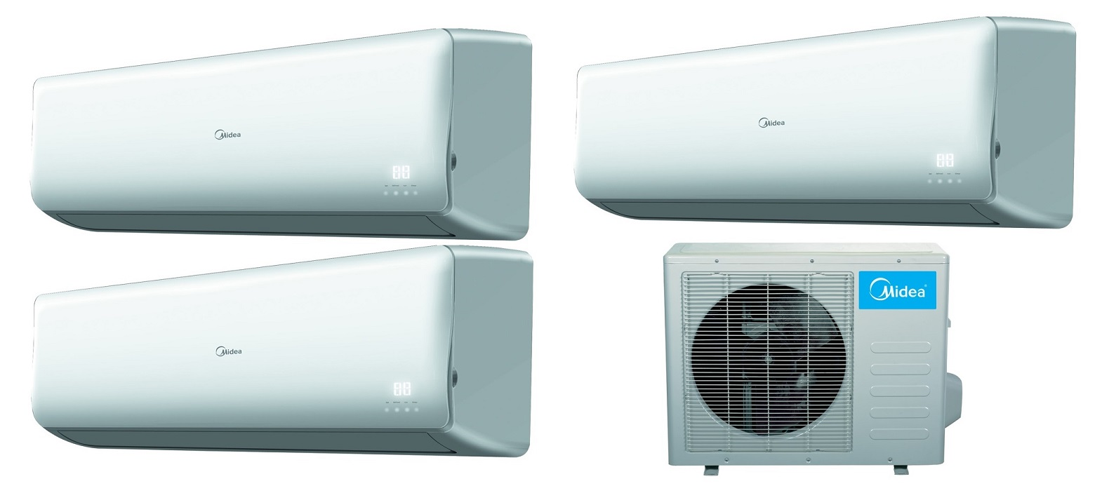 Midea 16 Seer 3 Room 3x9000 Btu Tri Zone Mini Split Ac