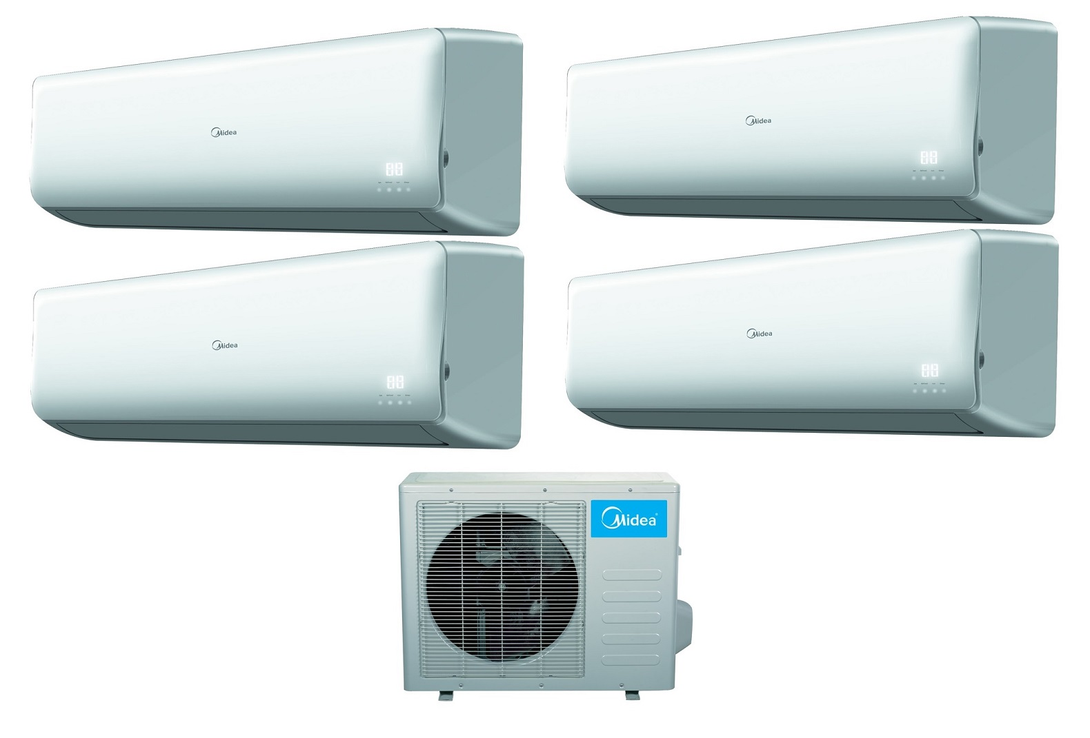 Midea 16 SEER 4 Room 4x9000 BTU Quad Zone Mini Split Heat Pump AC