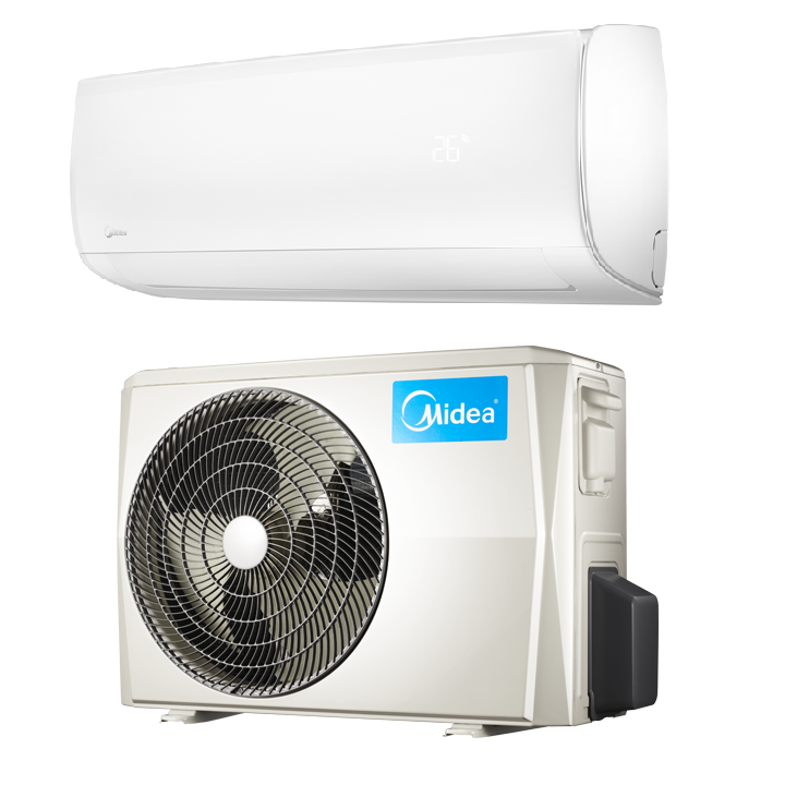Midea 36000 btu 18 seer mission heat pump ac ductless for Climatiseur mural 24000 btu
