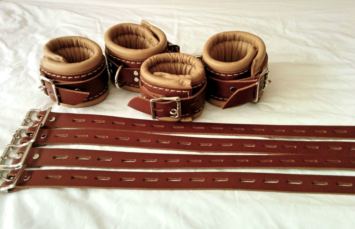 Classic Institutional Wrist and Ankle Restraints With Bed ...