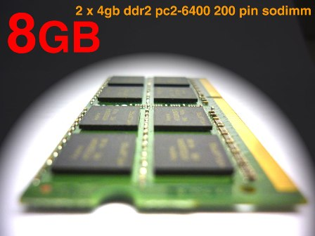 8gb 2x 4gb Ddr2 800 800mhz Memory Laptop Ram Sodimm Upgrade
