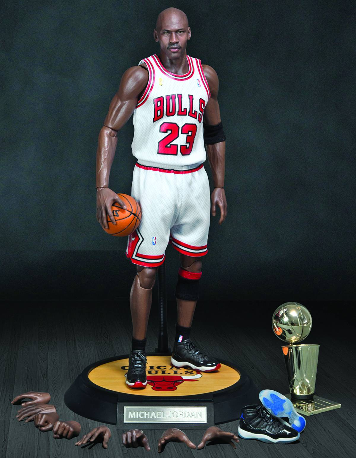 Michael Jordan Bulls 23 Red Jersey Real Masterpiece Figure Enterbay Real  Masterpiece NBA Collec 9de3f1c8a
