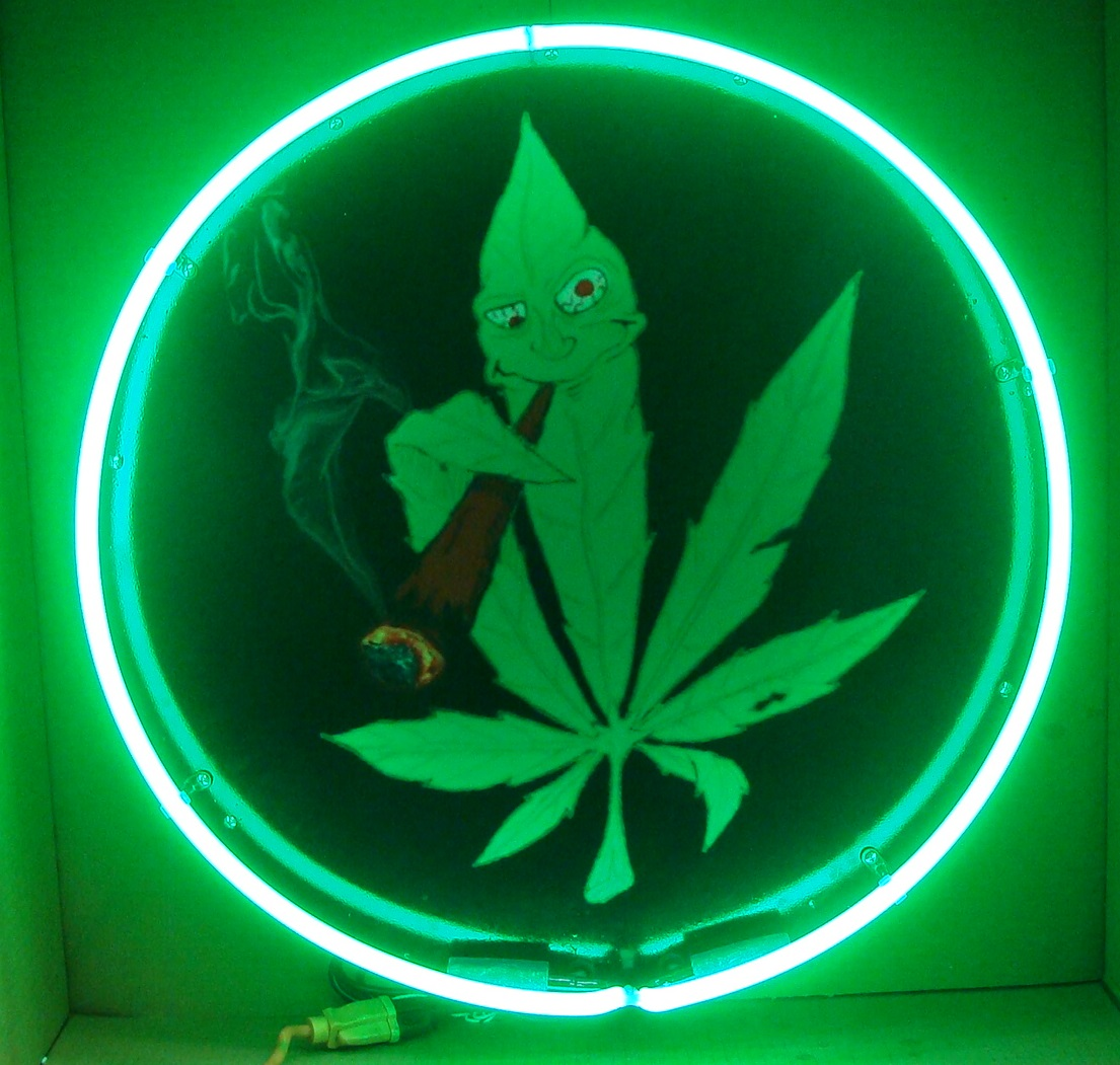 marijuana neon sign  full canned