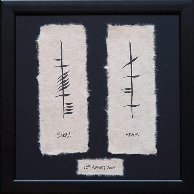 Ogham Personalised Wedding Gift : ... the wedding plaque with date is a goregous hand crafted wedding gift