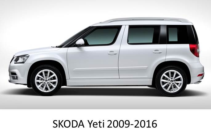 skoda yeti 2009 2016 magnetic car sun shades 2 pack. Black Bedroom Furniture Sets. Home Design Ideas