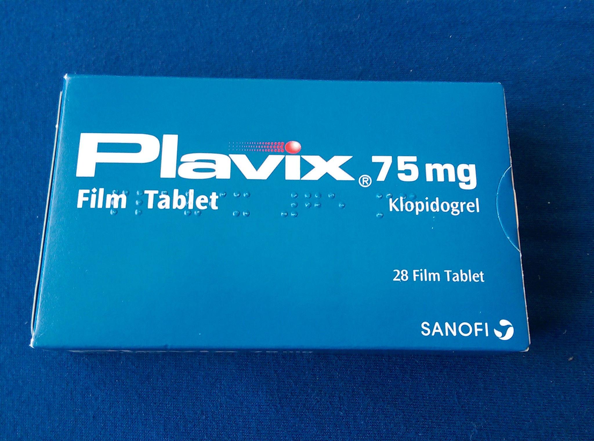 Plavix Clopidogrel 75 Mg 28 Tablets
