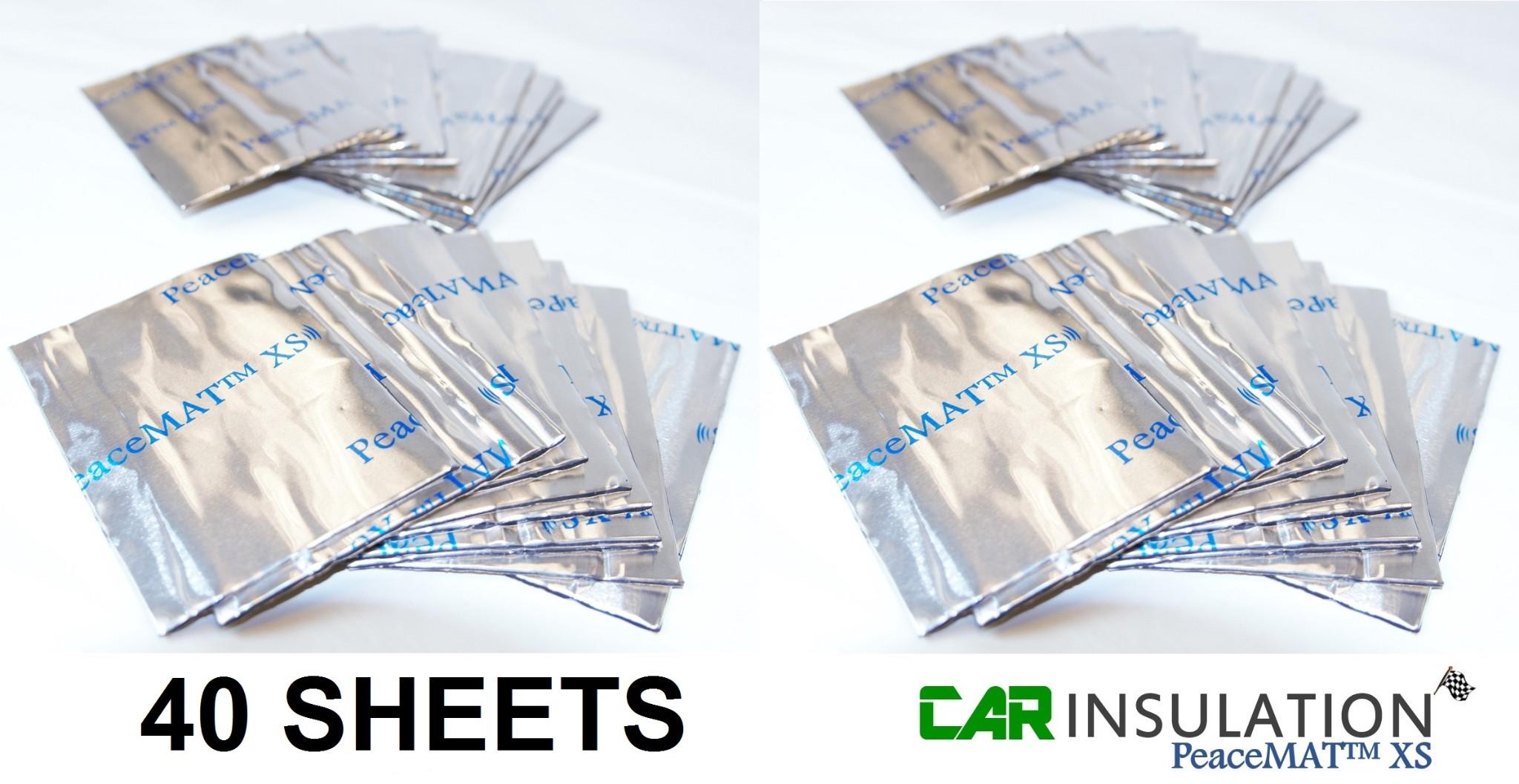 Anti Panel Vibration Vehicle Panel Deadening 40 Sheets PeaceMAT™ XS