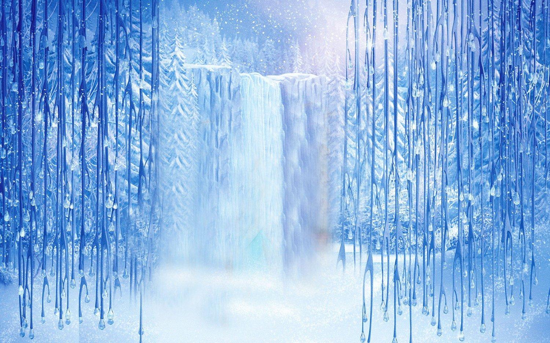9x6ft Winter Waterfall Backdrop