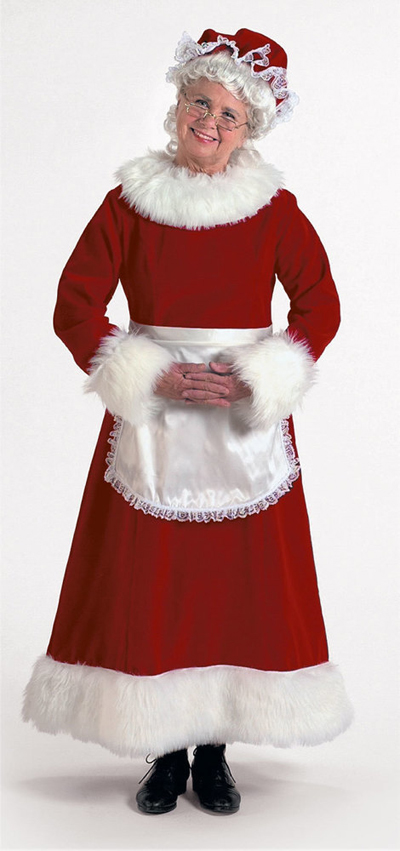 Halco Mrs Claus Long Red Velvet Dress