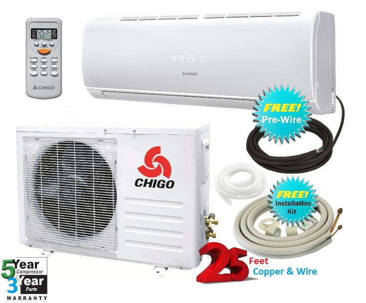 Chigo 9000 Btu 20 Seer 110v Mini Split Heat Pump Air