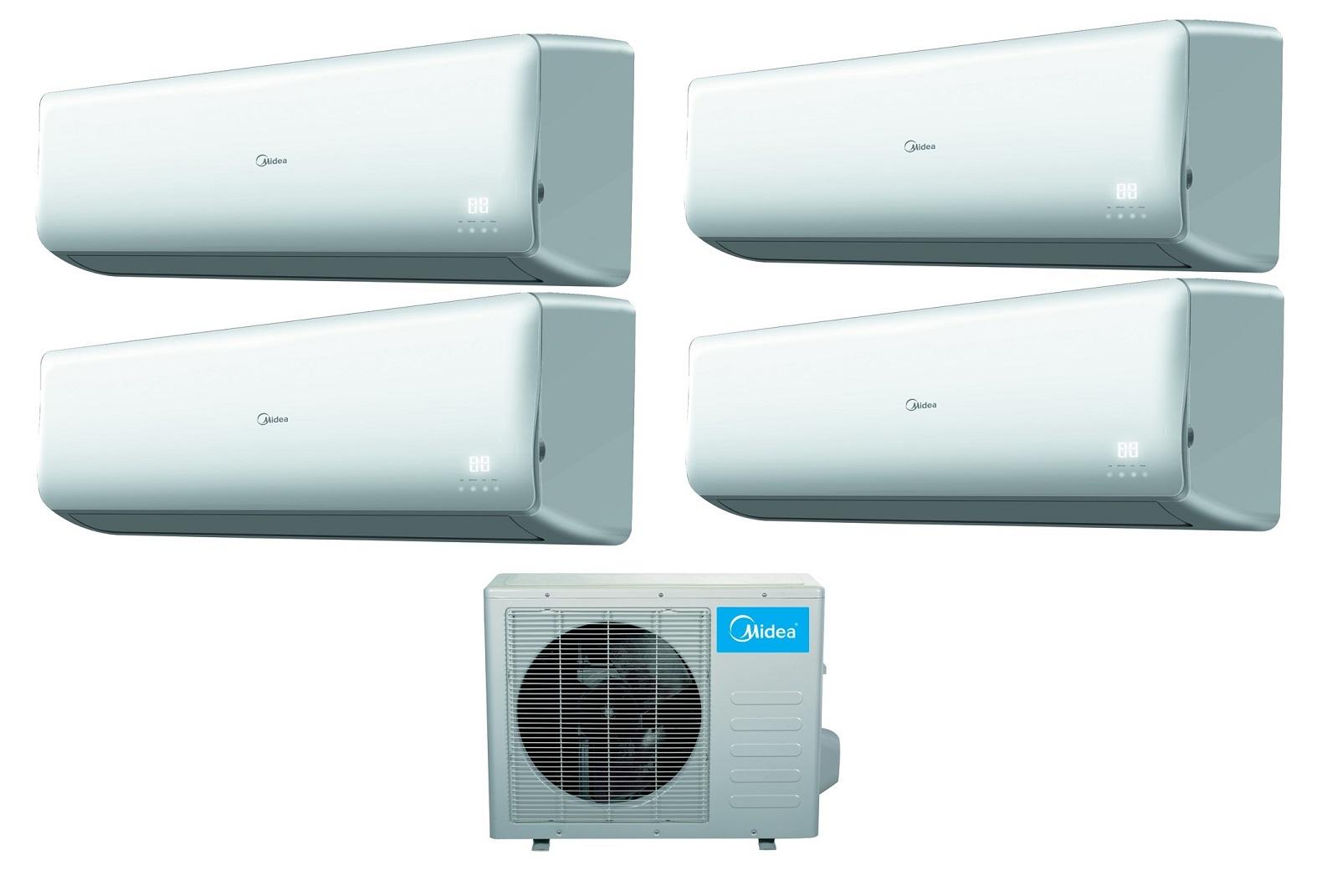 Midea 16 Seer 4 Room 4x9000btu Quad Zone Mini Split Heat Pump AC #0090CC