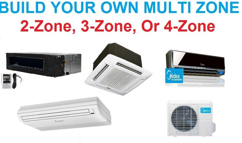 Midea Custom Built Multi Zone Ductless Mini Split System