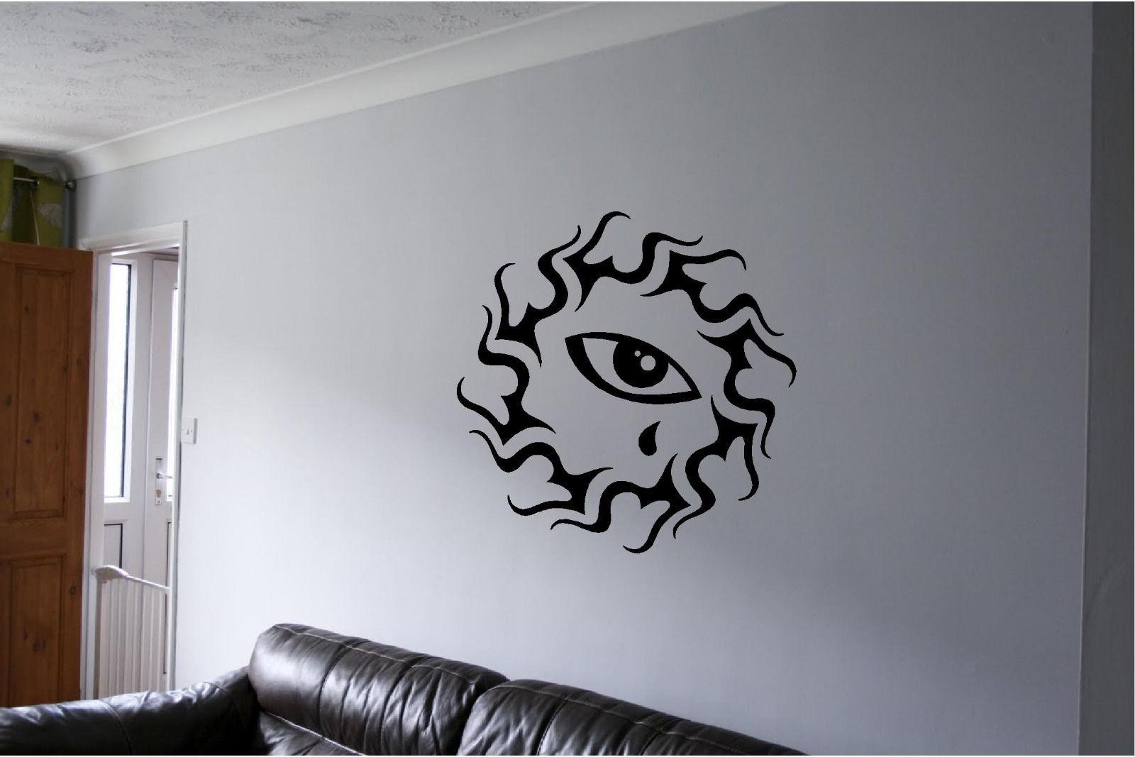 Tribal Art Wall Sticker Eye Wall Art Decor Vinyl Decal Mural