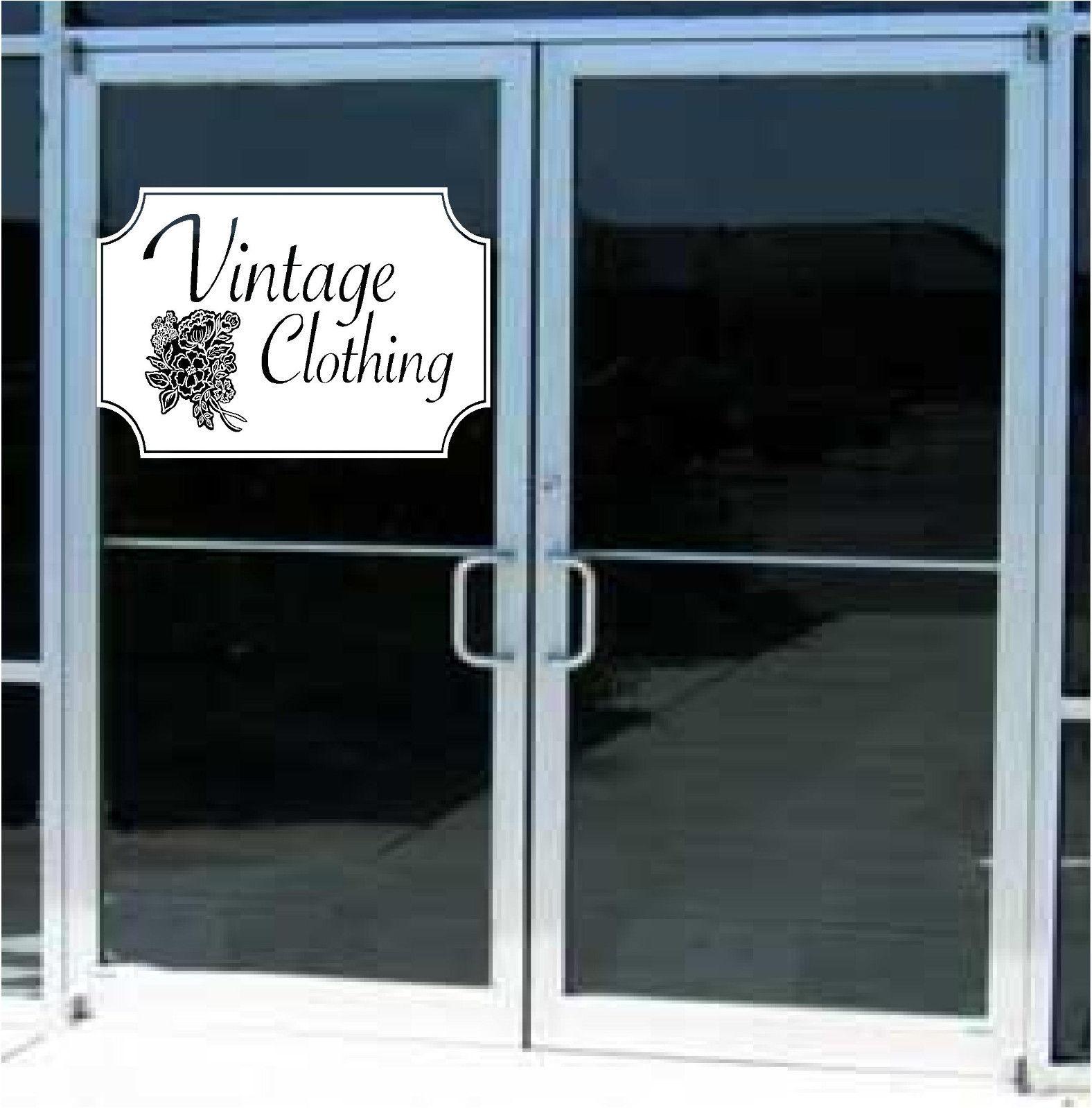 Vintage Clothing Business Sign Vinyl Decal Sticker Sign