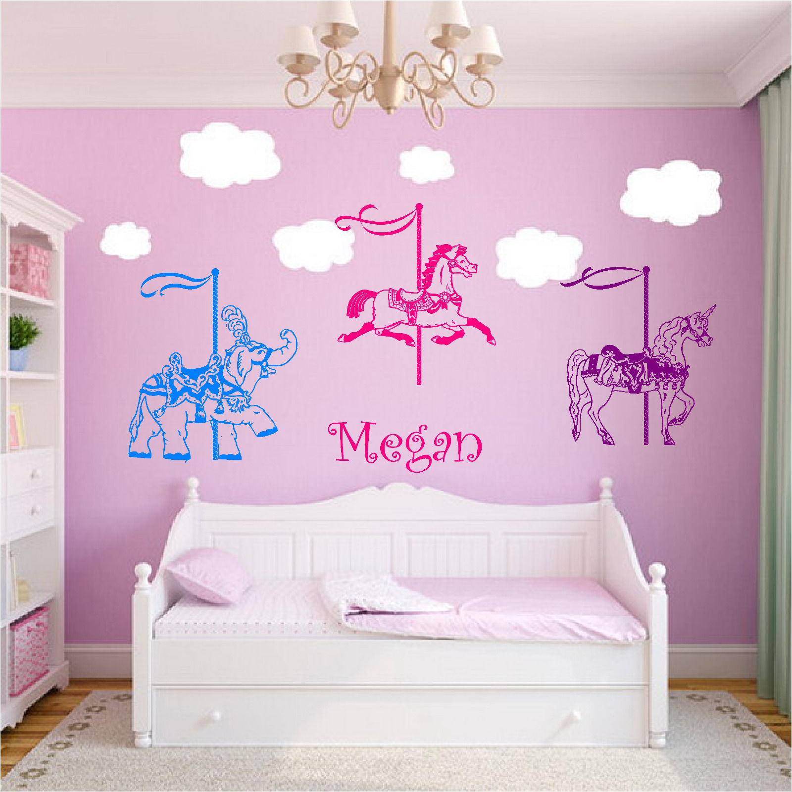 Carousels Personalized Name Wall Stickers