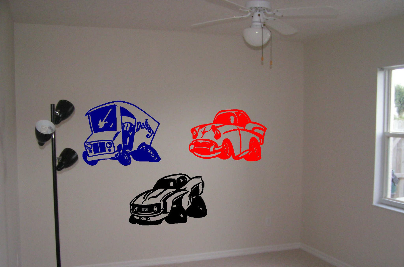 Cars Hot Rods Wall Stickers
