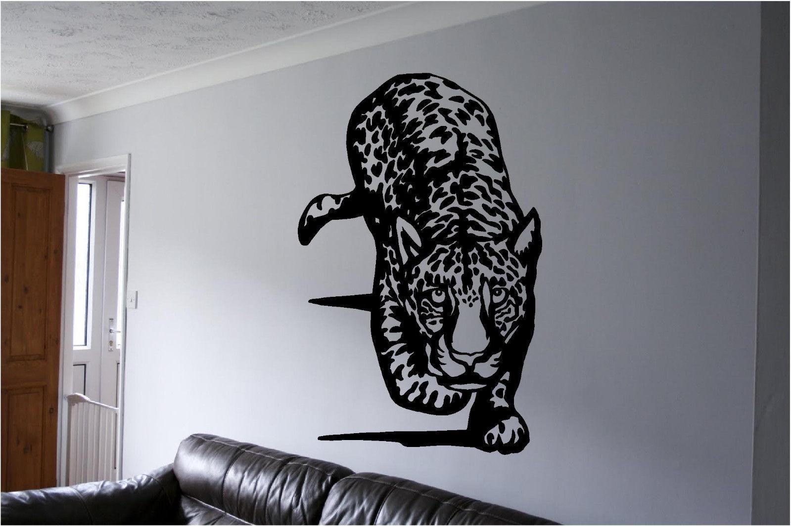 cheetah wall sticker wall art decor vinyl decal sticker leopard cheetah wall decals auall351 42 00 wall