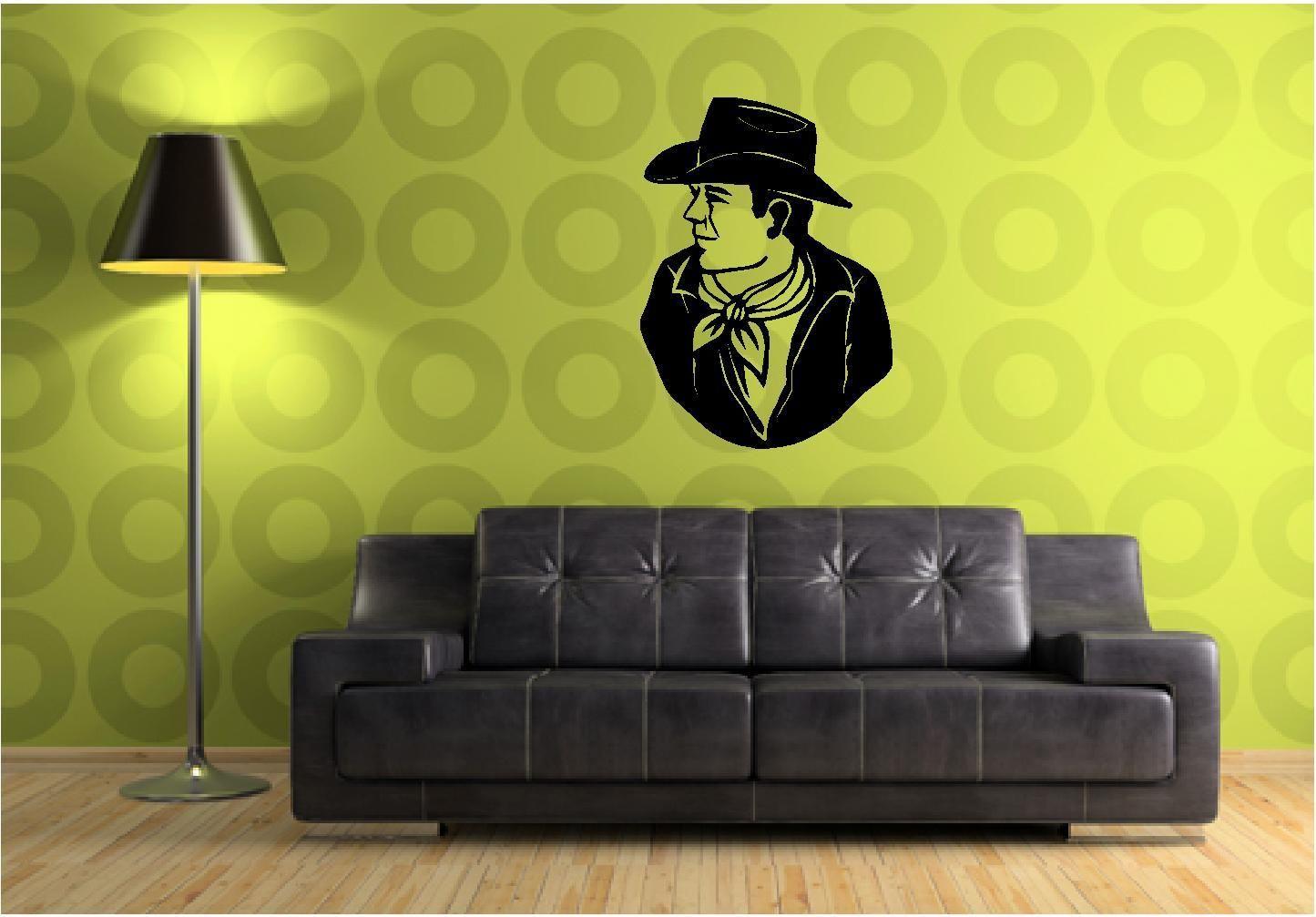 John Wayne Wall Sticker Wall Art Vinyl Decals Wall Decor Wall