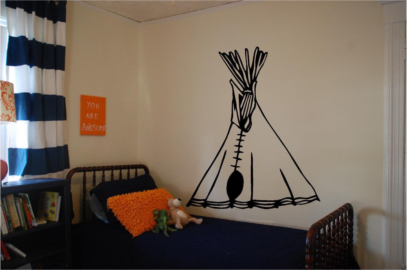 Tee Pee Wall Sticker Wall Kids Room Art Decor