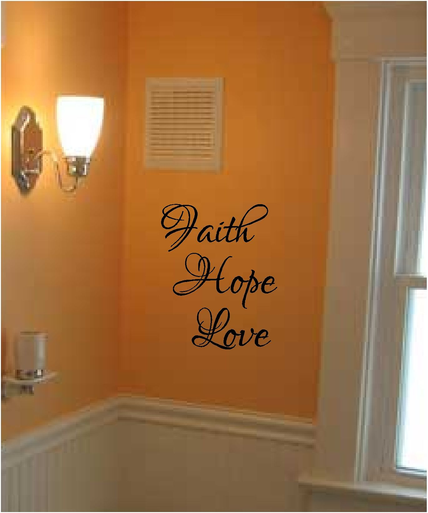Faith Hope And Love Wall Stickers 3 Pc