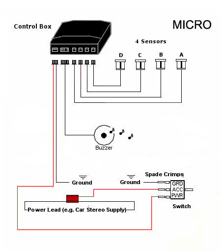 Micro Front Audio 4 Parking Sensor System