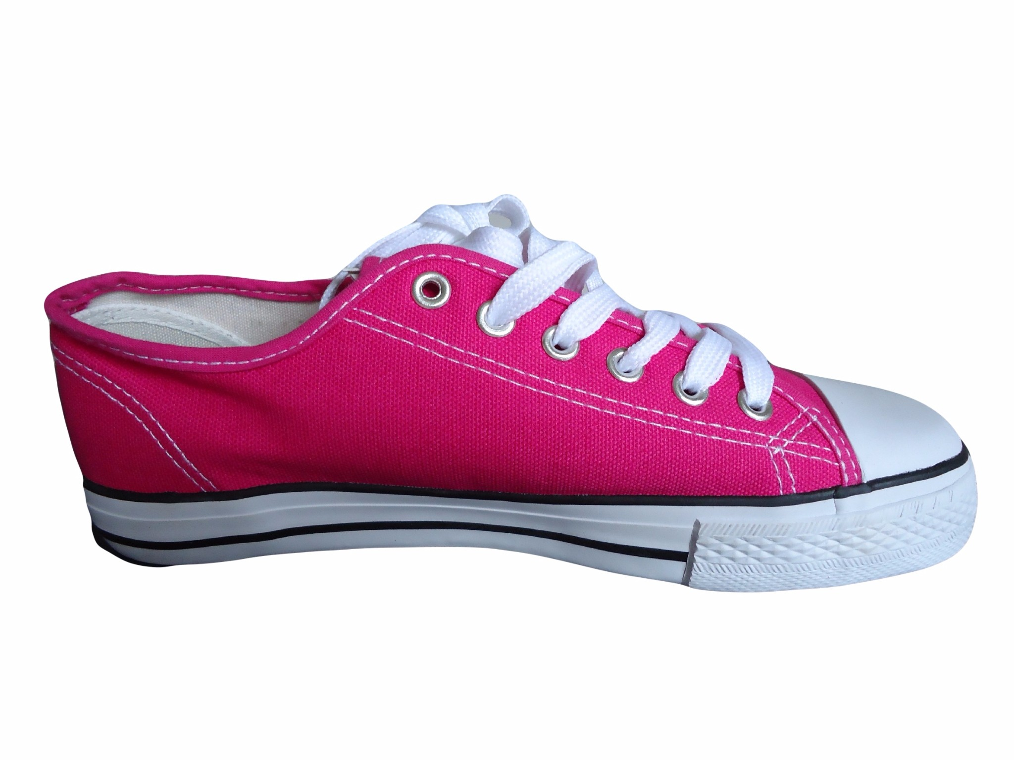 pink canvas trainers baseball style shoes plimsolls