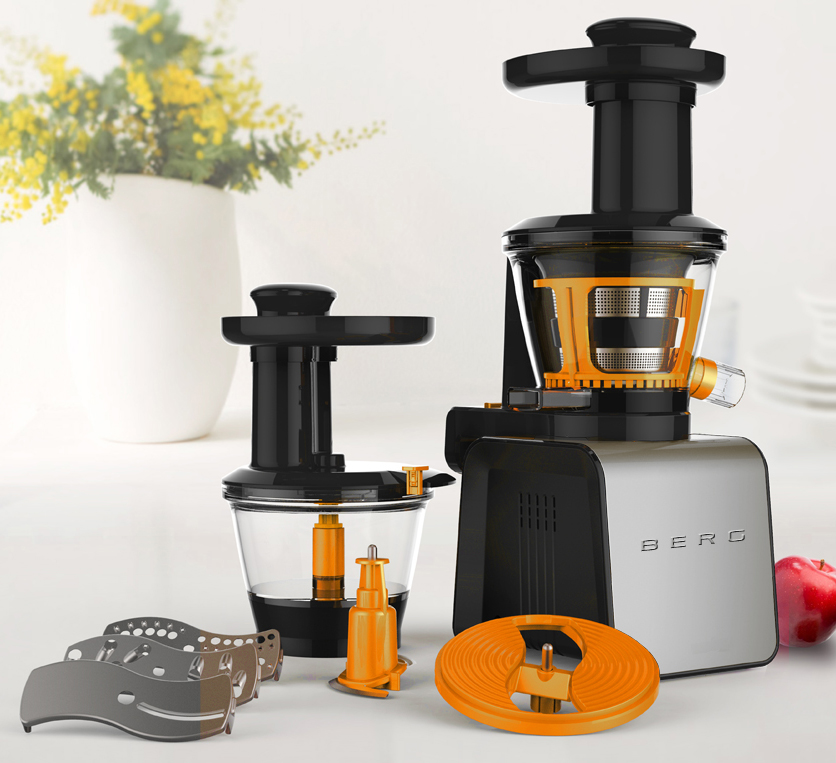 Professional Masticating Slow Juicer : BERG J100 Pro Slow Juicer
