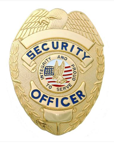 Security officer shield breast badge gold - Security guard hd images ...