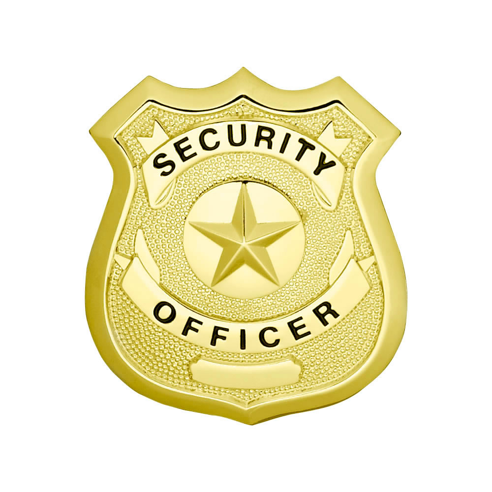 Security Officer Star Center Shield Badge