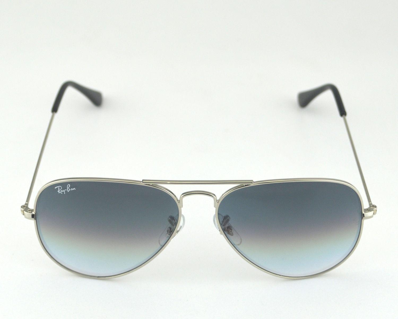 81ec4516cb Ray Ban RB 3025 Aviator Gradient 003 32 Silver   Light Grey Gradient Glass  Lens Unisex Sunglasses 58mm