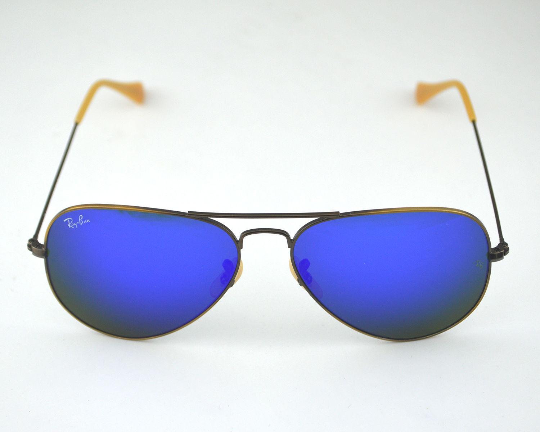 d699847e8e Ray Ban RB 3025 Aviator Flash Lenses 167 68 Bronze-Copper Blue Mirror Glass  Lens Unisex Sunglasses 58mm