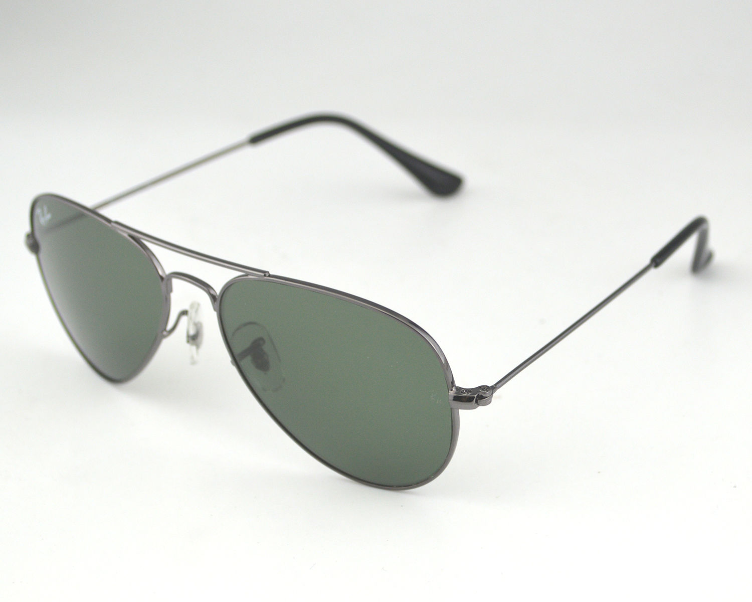 Ray Ban Small Frame Glasses : Ray Ban RB3044 Aviator Small W3100 Gunmetal frame/ Green ...