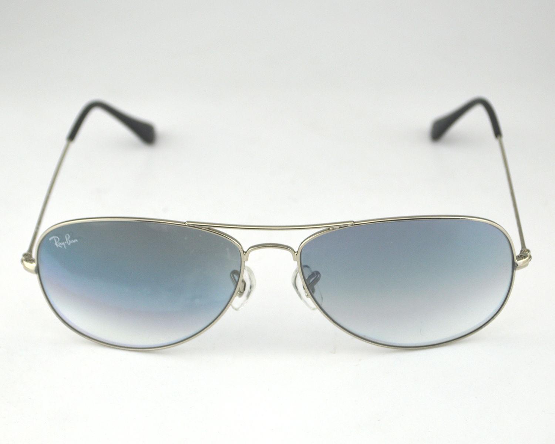 83a1d8029d Ray Ban RB 3362 Cockpit 003 32 Light Grey Gradient Glass Lens Unisex  Sunglasses 59mm