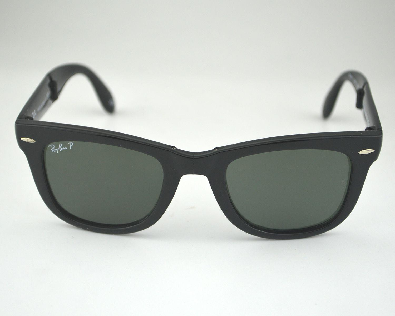 2014792249 Ran Ban RB4105 Wayfarer Folding Classic 601 58 Polarized Green Classic G-15  Lens Sunglasses 50mm