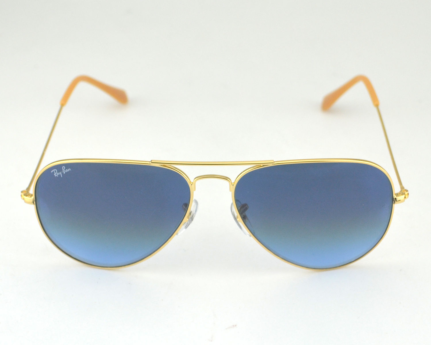 47021f5630 Ray Ban RB3026 Aviator Large Metal 001 3F Gold  Light Bule Gradient Lens  Sunglasses 62mm