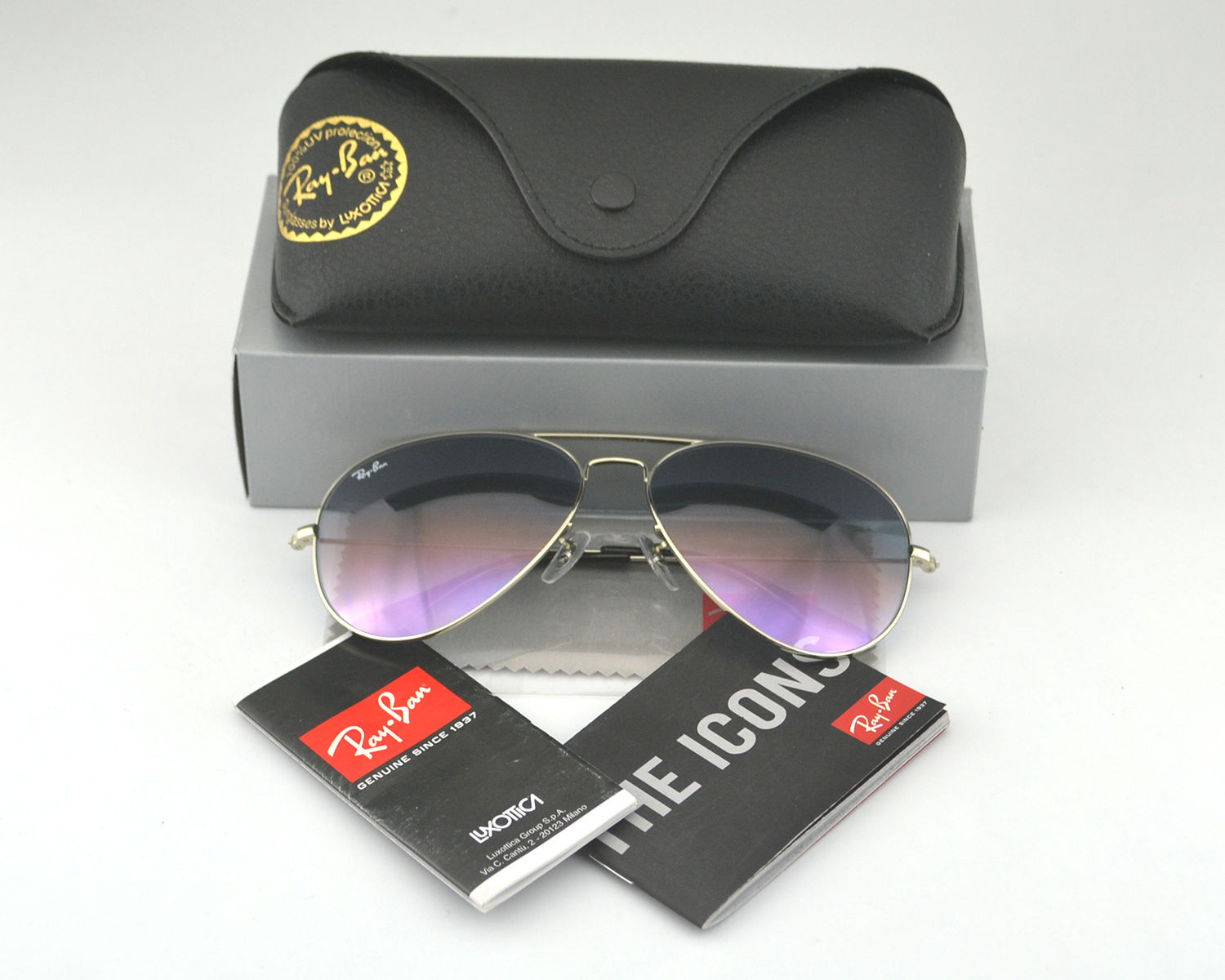 rb3026 prxy  Ray Ban RB3026 Aviator Large Metal 003/32 Linght Grey Gradient Lens  Sunglasses 62mm
