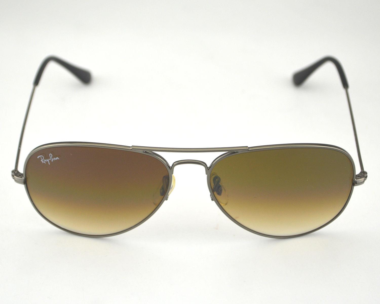 04d2f817c1 Ray Ban RB3025 Aviator Gradient 004 51 Gunmetal Frame  Light Brown Gradient  Lens Sunglasses 58mm