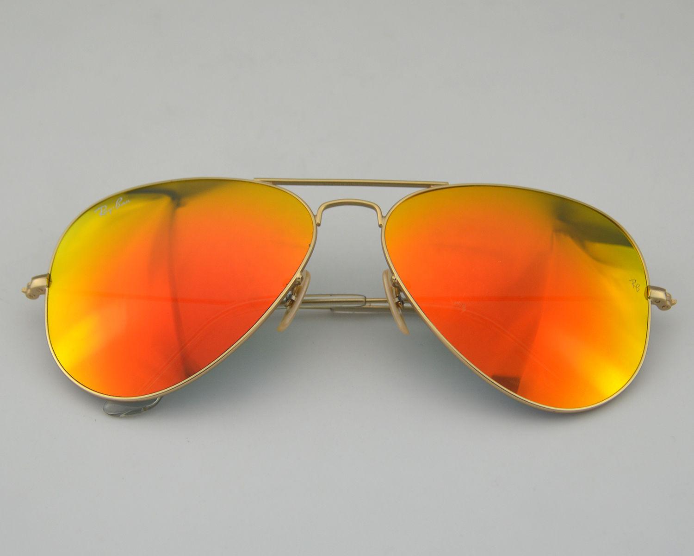large lens aviator sunglasses  Ray Ban RB3026 Aviator Large Metal 鈪lash Lenses 112/69 Orange ...