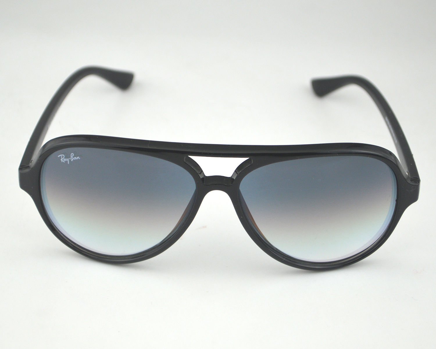 b4f4082bcc Ray Ban RB 4125 Cats 5000 Classic 601 32 Black   Light Grey Gradient Glass  Lens Unisex Sunglasses 59mm