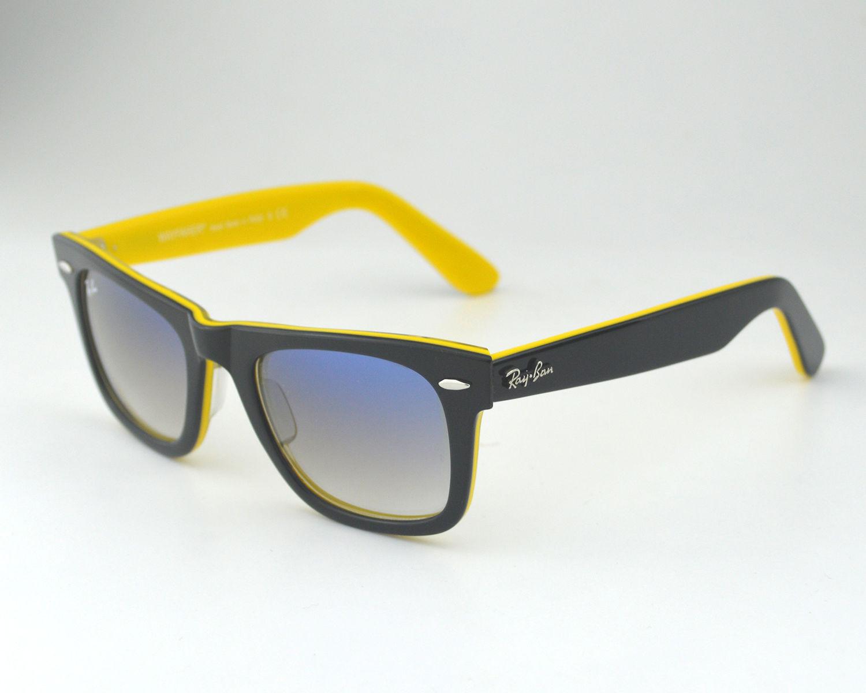 ray ban rb2140 wayfarer 100032 black yellow framegrey lens sunglasses 50mm - Yellow Frame Sunglasses