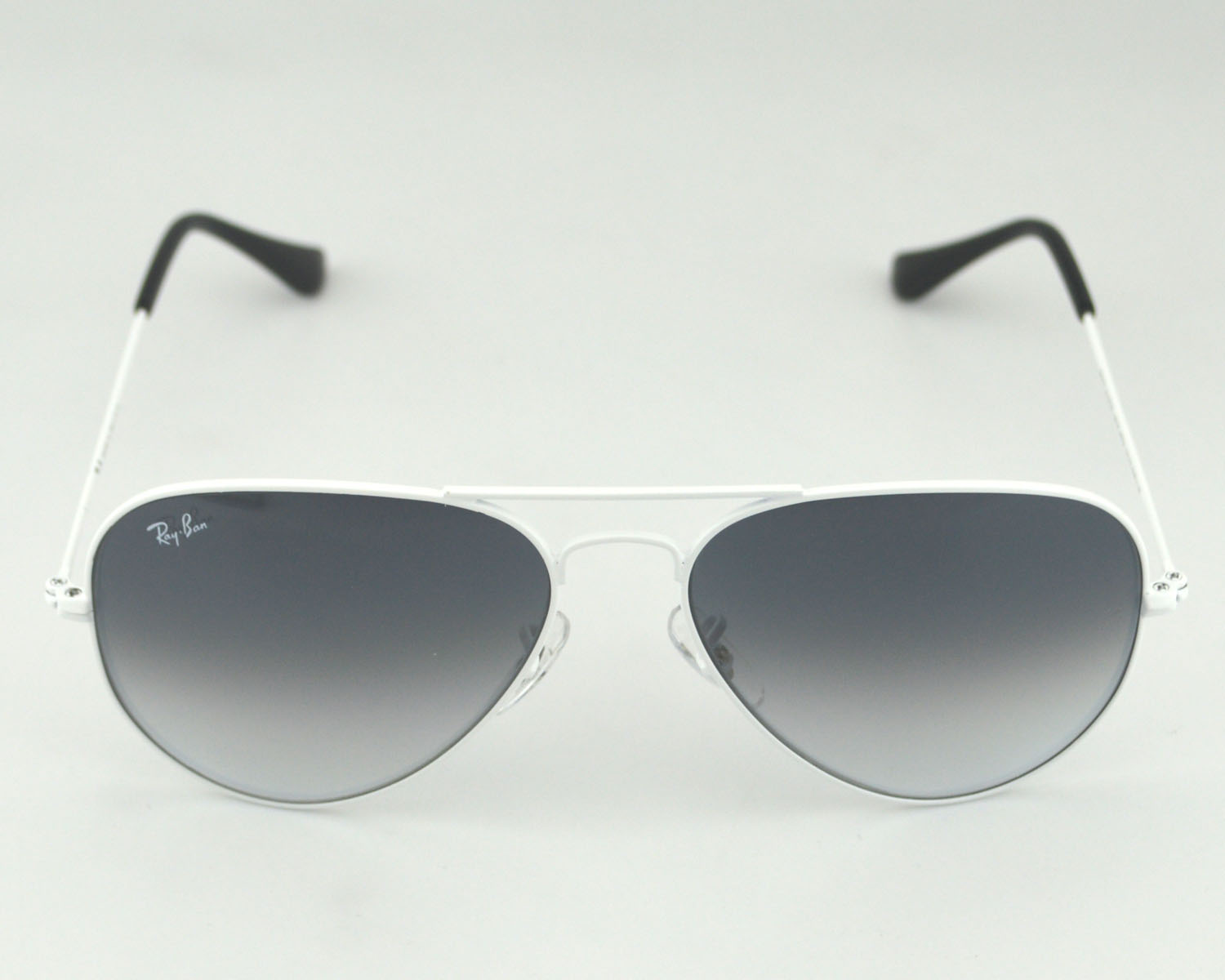 Ray-Ban RB 3025 Aviator Gradient 032/32 White Frame/Light Grey ...