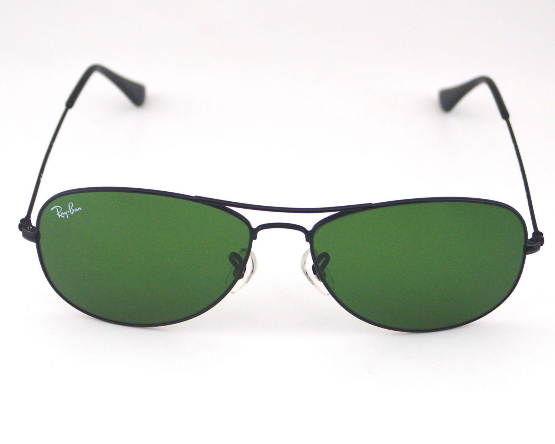 83e901f6f42 netherlands ray ban rb 3362 cockpit 002 black gunmetal green classic g 15  glass lens unisex